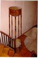This is an example of one of the early showers used in the homes of the wealthy.